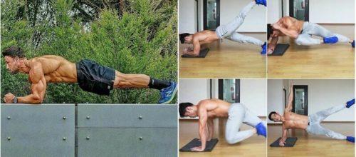 11 variazioni di Plankper ridurre il grasso e strutturare l'addome (dicendo addio al mal di schiena)